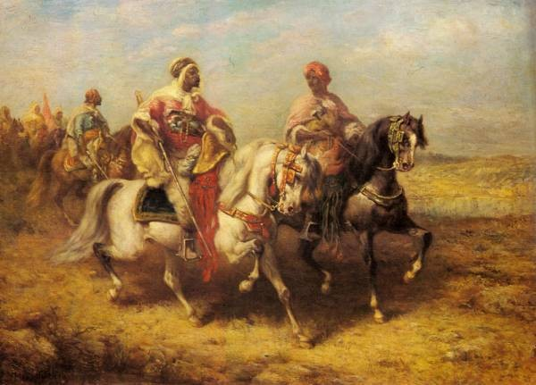 Arab Chieftain And His Entourage